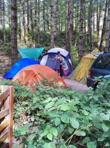 Home sweet home at Sooke Potholes