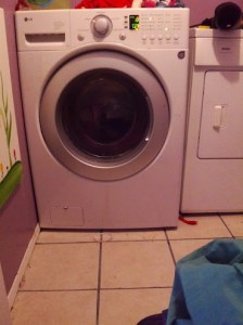 It was very exciting to have access to a washing machine, after camping for weeks.